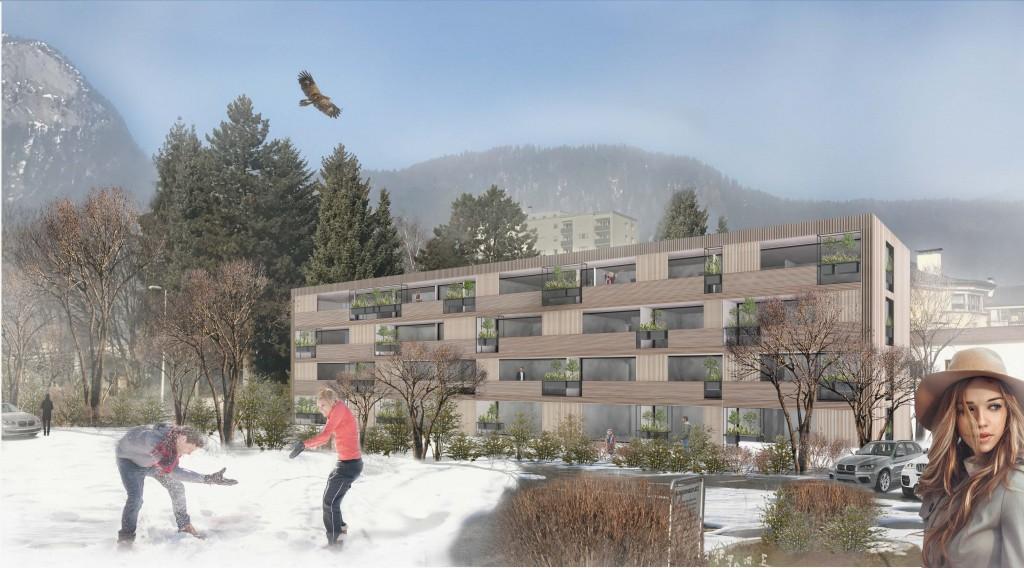 Architektur Wohnbau Zanierhaus, 1. Preis Architekturwettbewerb