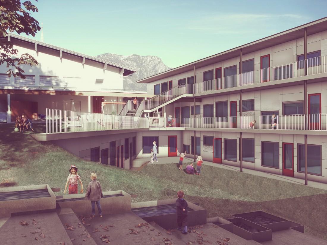Wettbewerb Architektur Kindergarten Kundl