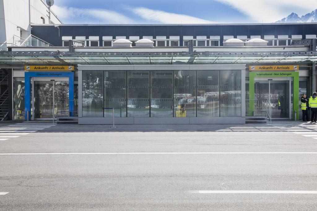 Flughafenarchitektur Innsbruck - Erweiterung Grenzkontrollstellen