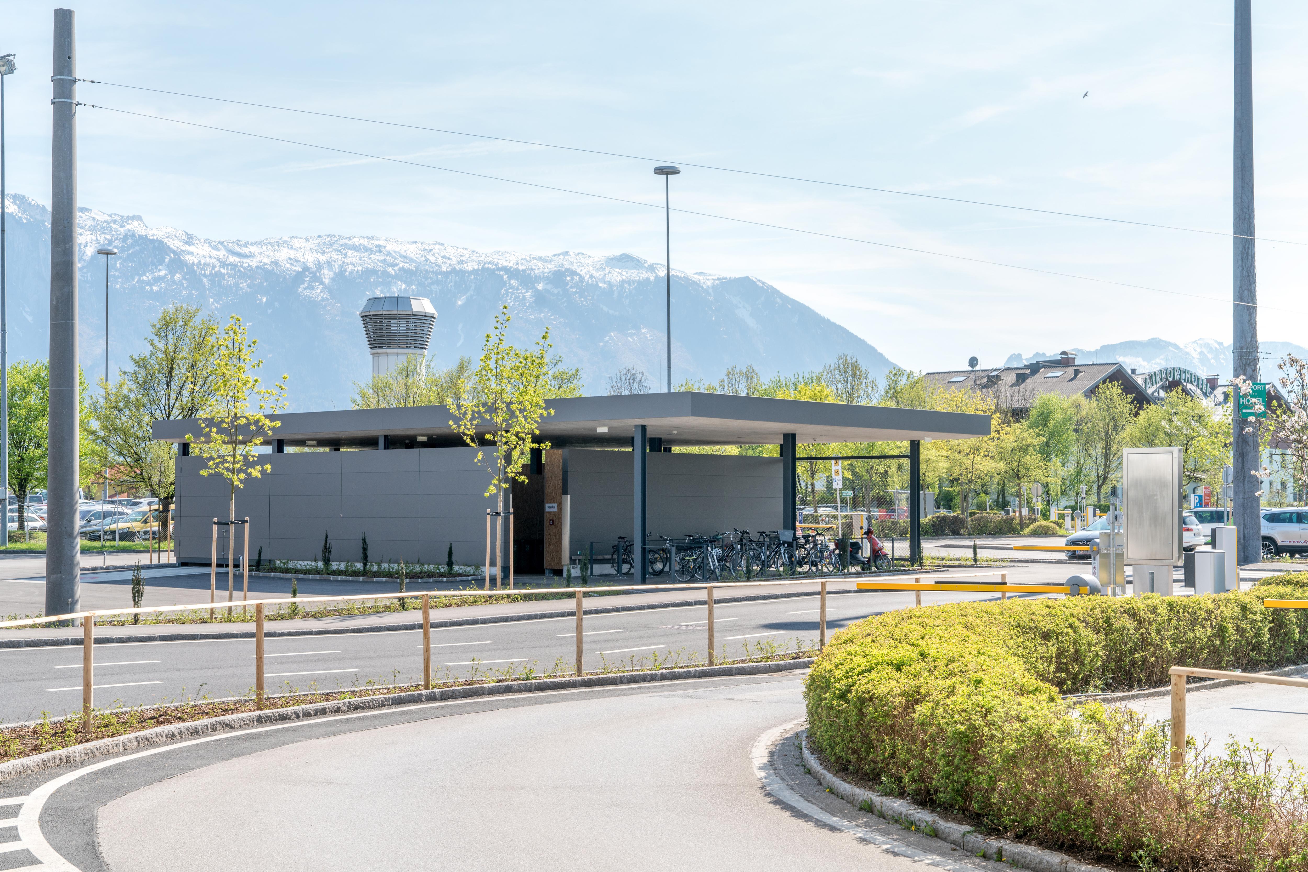 Salzburger Flughafen GmbH – Wertstoffsammelstelle inkl. Fahrradabstellplatz
