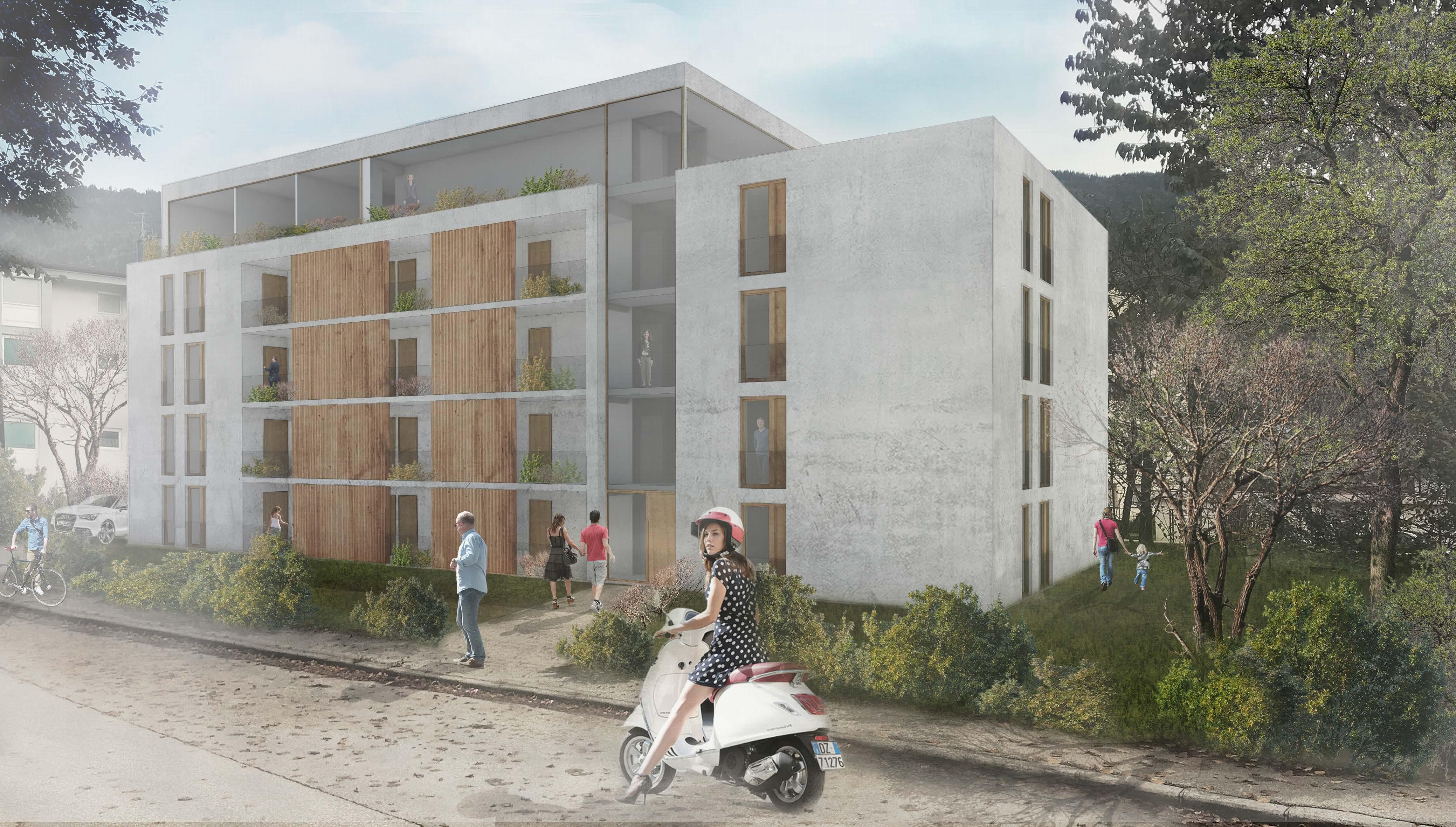 Architekturwettbewerb Wohnanlage Kufstein - HVW Architekten